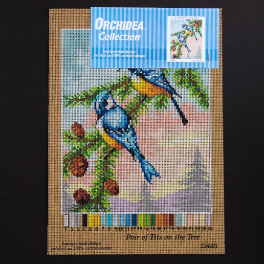 ORCHİDEA 24 x 30 cm Daldaki Kuşlar Baskılı Goblen 2348H