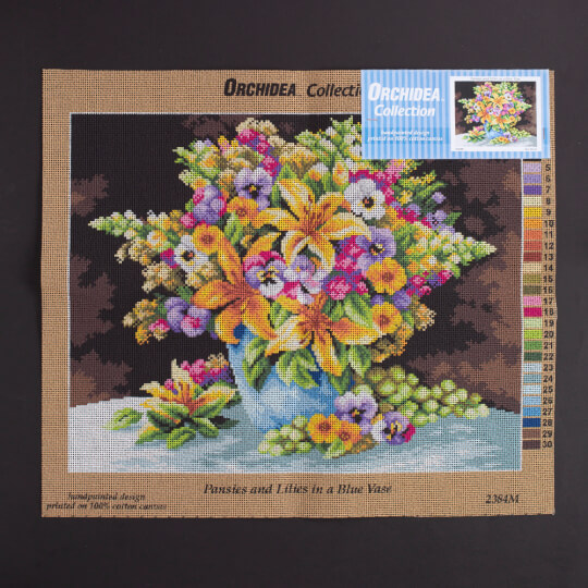 Orchidea 40x50 cm Çiçek Baskılı Goblen - 2384M