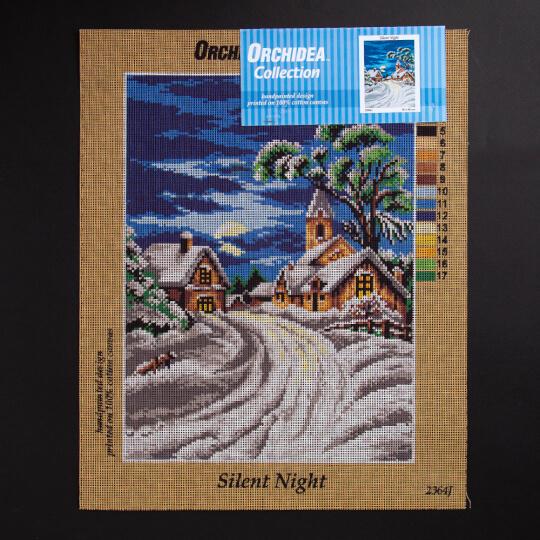 ORCHİDEA 30 x 40 cm Sessiz Gece Baskılı Goblen 2364J