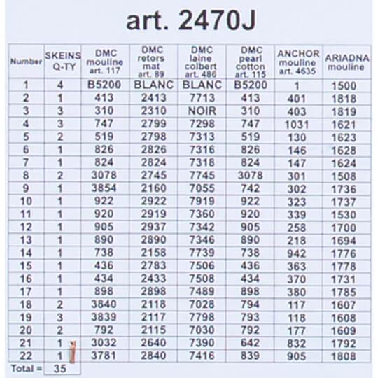 ORCHİDEA 30 x 40 cm Kış kulübesi Baskılı Goblen 2470J