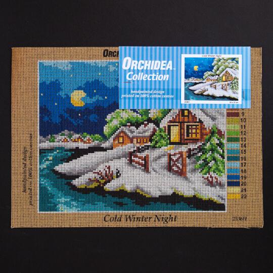 ORCHİDEA 24 x 30 cm Soğuk Kış Gecesi Baskılı Goblen 2536H