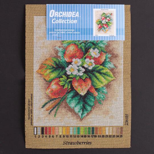 Orchidea 24x30cm Çilekler Baskılı Goblen - 2568H