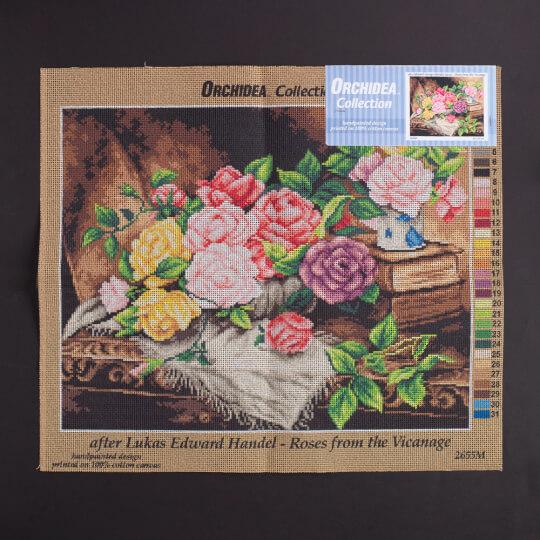 Orchidea 40x50 cm Edward George Handel Lucas Baskılı Goblen - 2655M