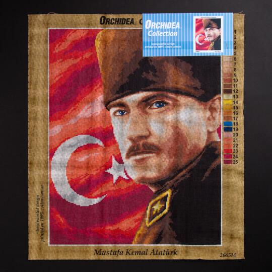 ORCHİDEA 40 x 50 cm Mustafa Kemal Atatürk Baskılı Goblen 2665M