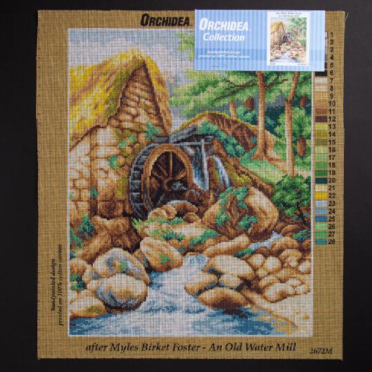 ORCHİDEA 40 x 50 cm Eski Su Değirmeni Baskılı Goblen 2672M