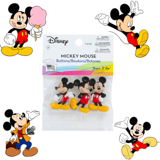 Dress It Up Mickey Mouse Dekoratif Düğme - 7716