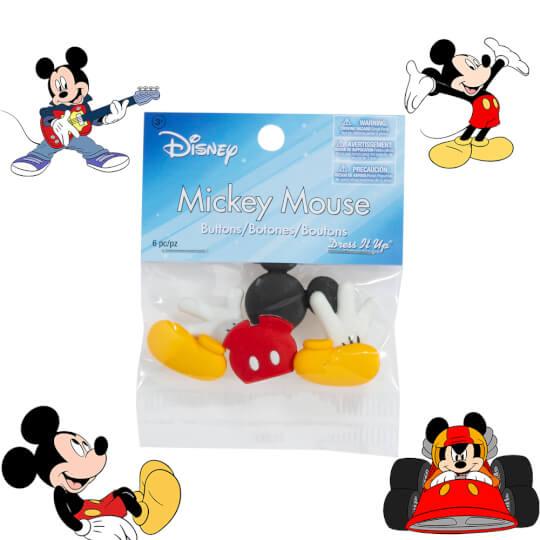 Dress It Up Mickey Mouse Dekoratif Düğme - 7720