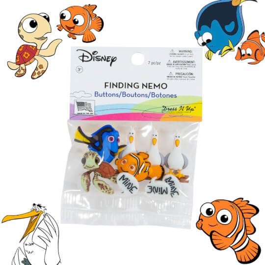 Dress It Up Finding Nemo Dekoratif Düğme - 7723