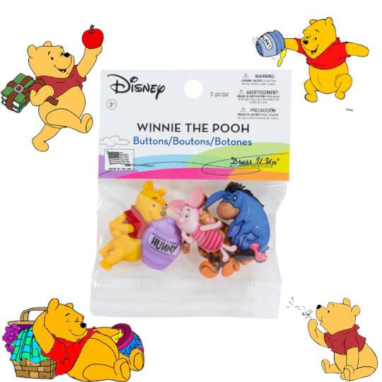 Dress It Up Winnie the Pooh Dekoratif Düğme - 7729