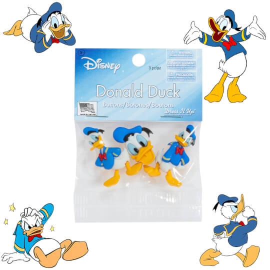 Dress It Up Donald Duck Dekoratif Düğme - 7746