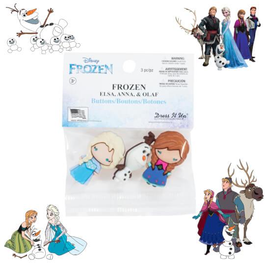 Dress It Up Frozen Elsa, Anna, Olaf Dekoratif Düğme - 8953
