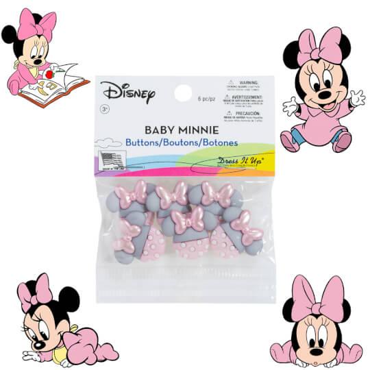 Dress It Up Baby Minnie Dekoratif Düğme - 8963