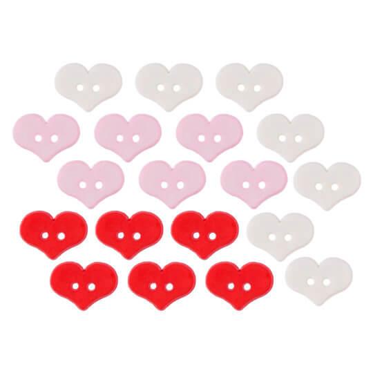 Buttons & Galore Kalp Dekoratif Düğme - 4325