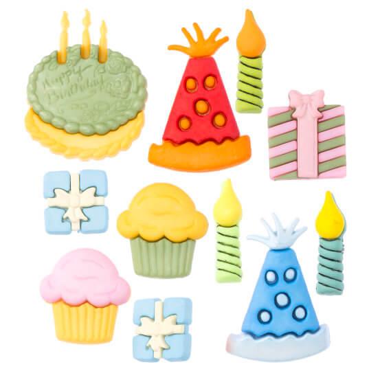 Buttons & Galore Doğum Günü Temalı Dekoratif Düğme - 4020