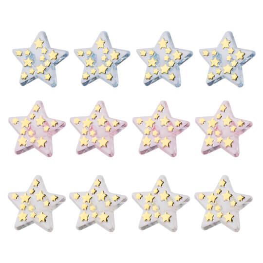 Buttons & Galore Parıltılı Yıldız Dekoratif Düğme - 4310