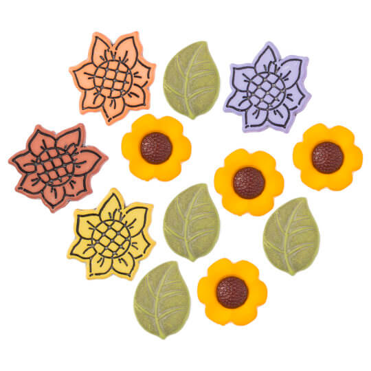 Buttons & Galore Ayçiçeği Dekoratif Düğme - 4185