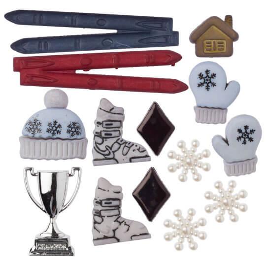 Buttons & Galore Kayak Temalı Dekoratif Düğme - 4131