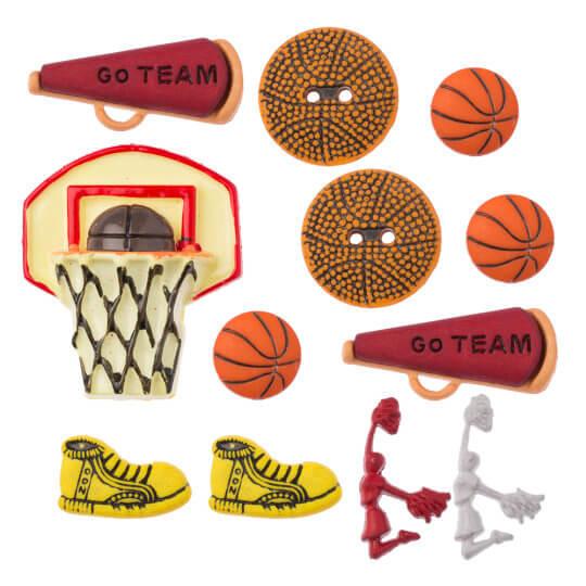 Buttons & Galore Basketbol Temalı Dekoratif Düğme - 4064