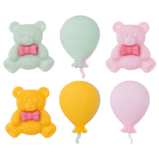 Buttons & Galore Ayıcık ve Balon Dekoratif Düğme - 4080