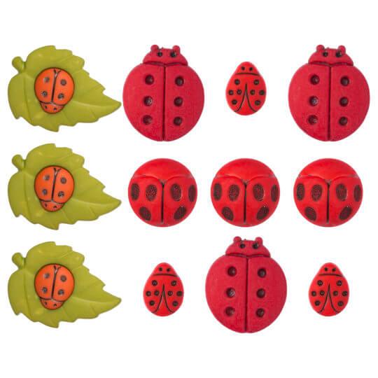 Buttons & Galore Uğurböceği Dekoratif Düğme - 4248