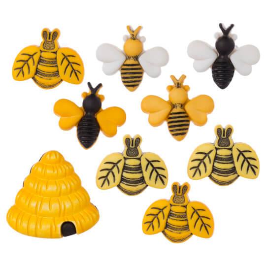 Buttons Galore Arı Ve Kovanı Dekoratif Düğme 4253 Hobium