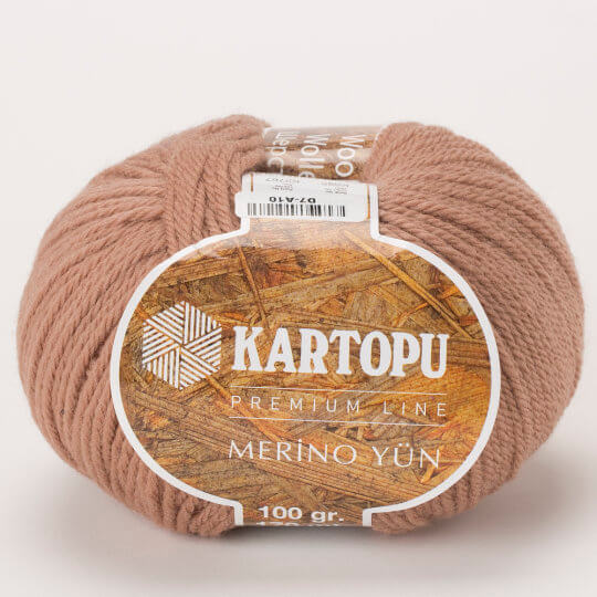 Kartopu Merino Koyu Bej Rengi El Örgü İpi - K885