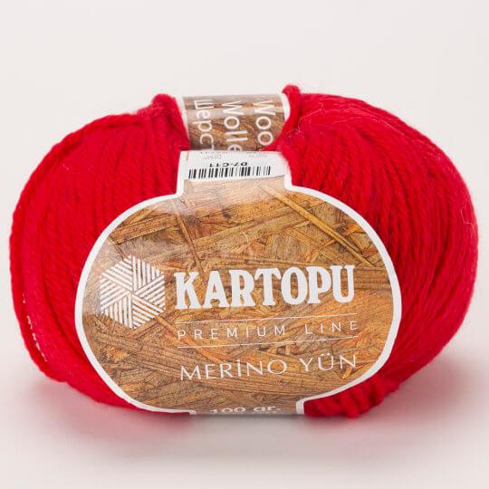 Kartopu Merino Kırmızı El Örgü İpi - K112