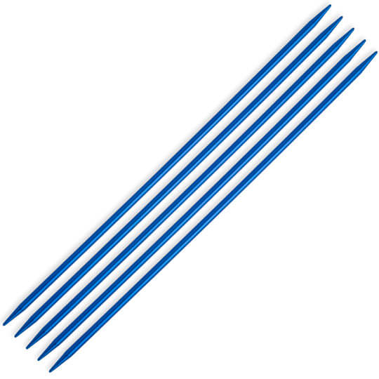 Kartopu 3,5 mm  20 cm Mavi Metal Çorap Şişi