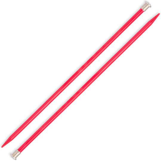 Kartopu 8 mm 35 cm Kırmızı Metal Örgü Şişi