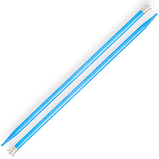 Kartopu 8 mm 35 cm Mavi Metal Örgü Şişi
