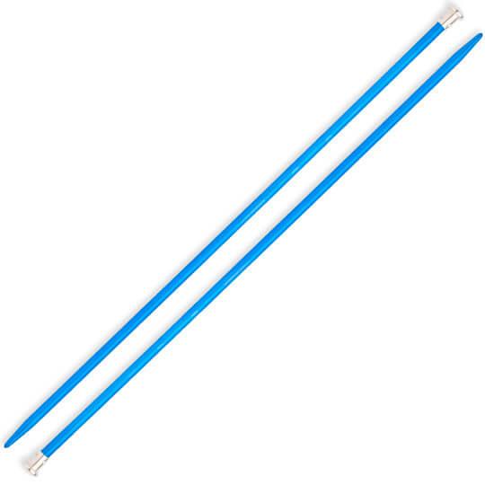Kartopu 4 mm 35 cm Mavi Metal Örgü Şişi