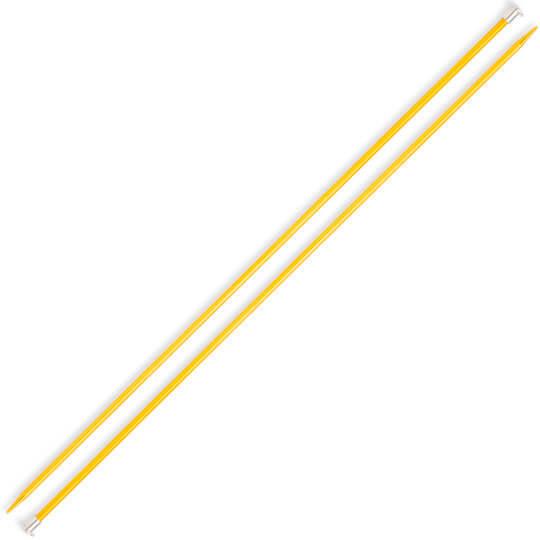 Kartopu 4 mm 35 cm Sarı Metal Örgü Şişi