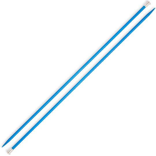Kartopu 4,5 mm 35 cm Mavi Metal Örgü Şişi