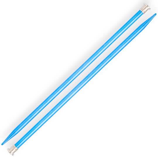 Kartopu 10 mm 35 cm Mavi Metal Örgü Şişi