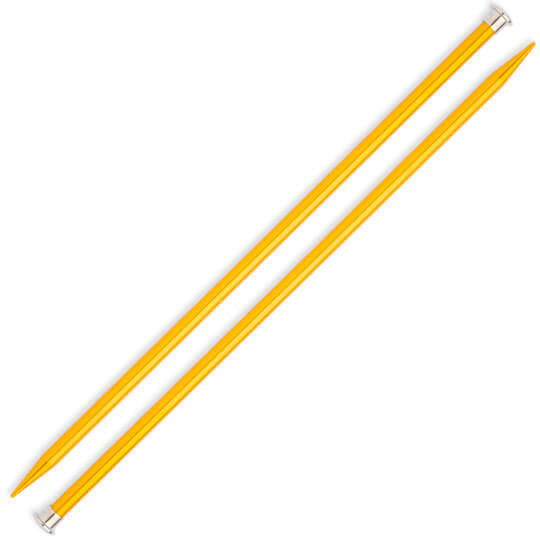 Kartopu 10 mm 35 cm Sarı Metal Örgü Şişi