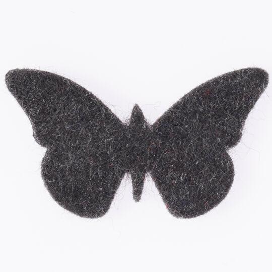 La Mia 3.3X5 Cm 25'Li Kırçıllı Siyah Kelebek Keçe Motifler