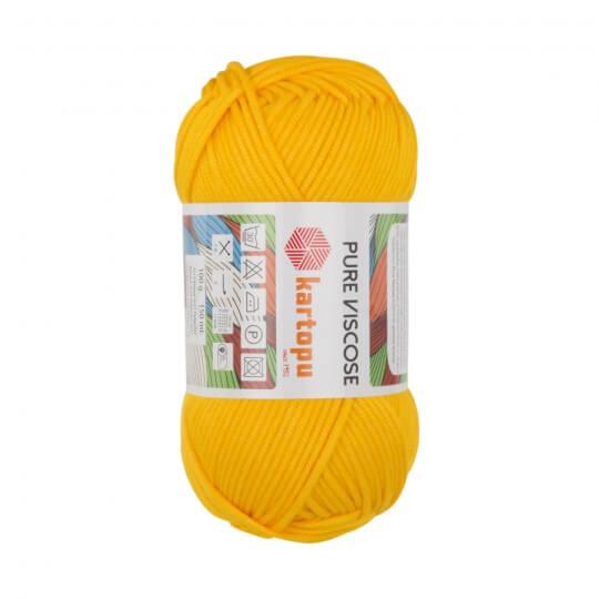 Kartopu Pure Viscose Hardal Sarısı El Örgü İpi - K320