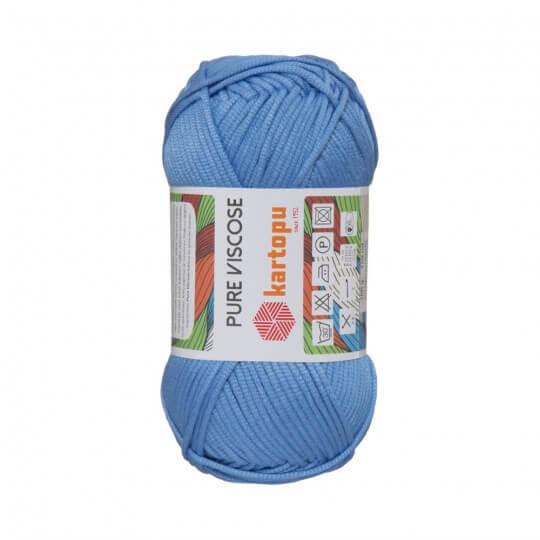 Kartopu Pure Viscose Mavi El Örgü İpi - K535