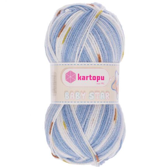 Kartopu Baby Star Mavi Bebek Yünü - H1072