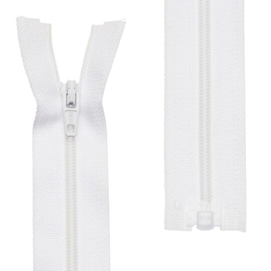 Loren 10 adet 60 Cm Beyaz Separe Naylon Fermuar