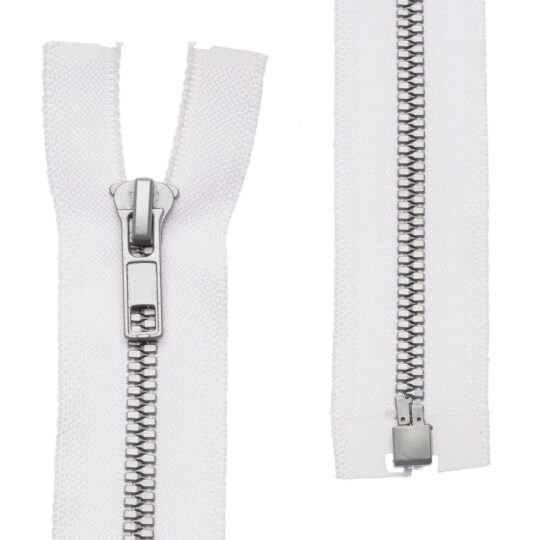 Loren 10 adet 30 Cm Beyaz Separe Kemik Fermuar