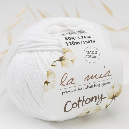 La Mia Cottony Beyaz Bebek El Örgü İpi - P1-L001