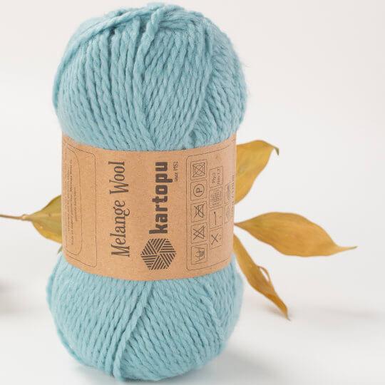 Kartopu Melange Wool Turkuaz El Örgü İpi - K5017