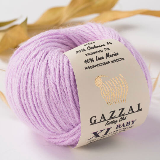 Gazzal Baby Wool XL Lila Bebek Yünü - 823XL