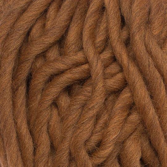 Gazzal Pure Wool Kahverengi El Örgü İpi - 5245