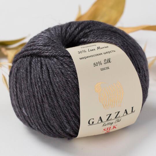 Gazzal Silk&Cashmere Füme El Örgü İpi - 452