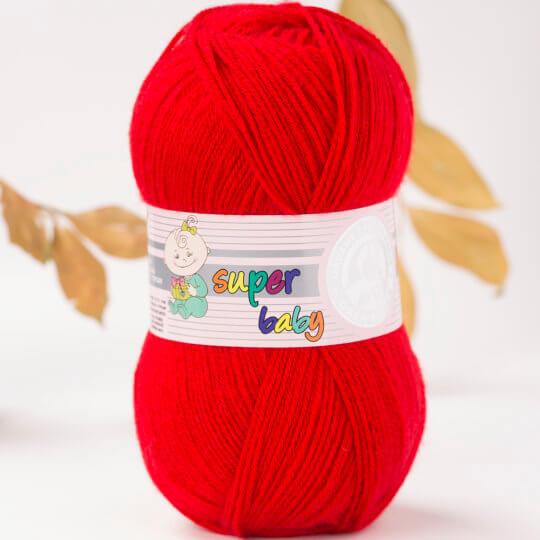 Örenbayan Super Baby Kırmızı El Örgü İpi - 33-1758