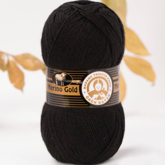 Örenbayan Merino Gold Siyah El Örgü İpi - 999-1778