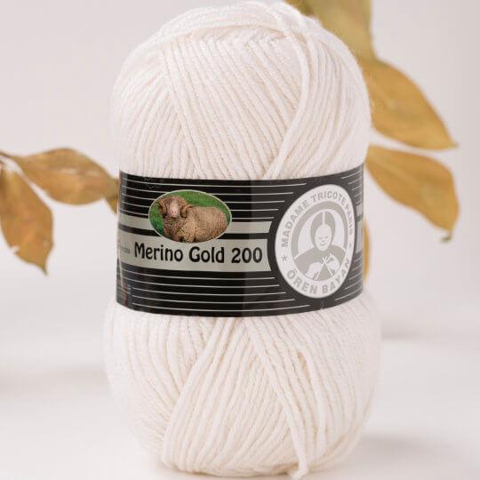 Örenbayan Merino Gold 200 Beyaz El Örgü İpi - 100-1842
