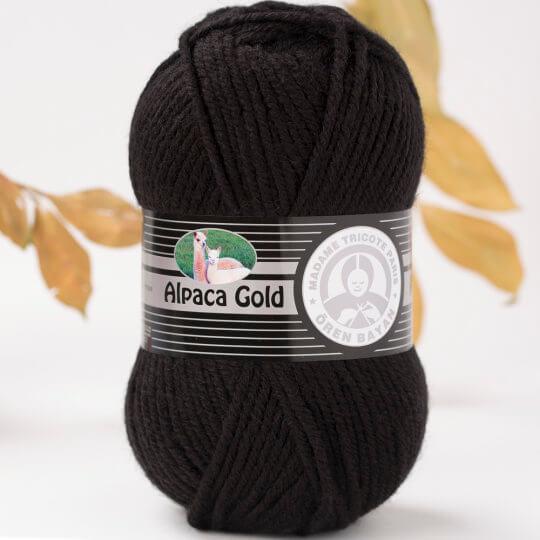 Örenbayan Alpaca Gold Siyah El Örgü İpi - 999-1841